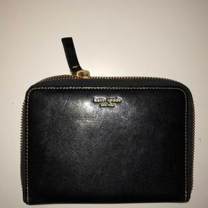 Vintage Kate Spade Black Leather Wallet